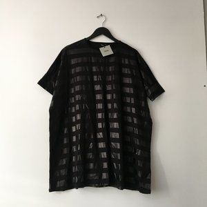 New Asos Basic Minimal Tee Shirt Black 3XL NWT